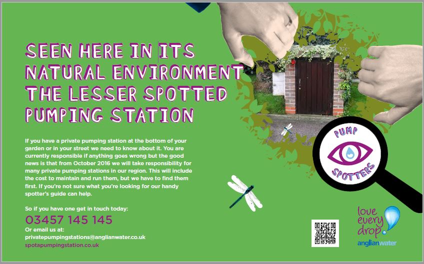Anglian Water Pump Station Search Poster