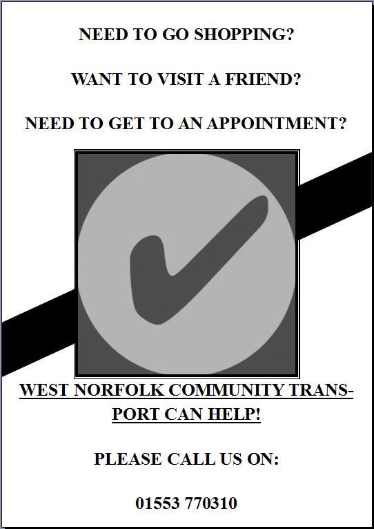 West Norfok Community Transport Poster