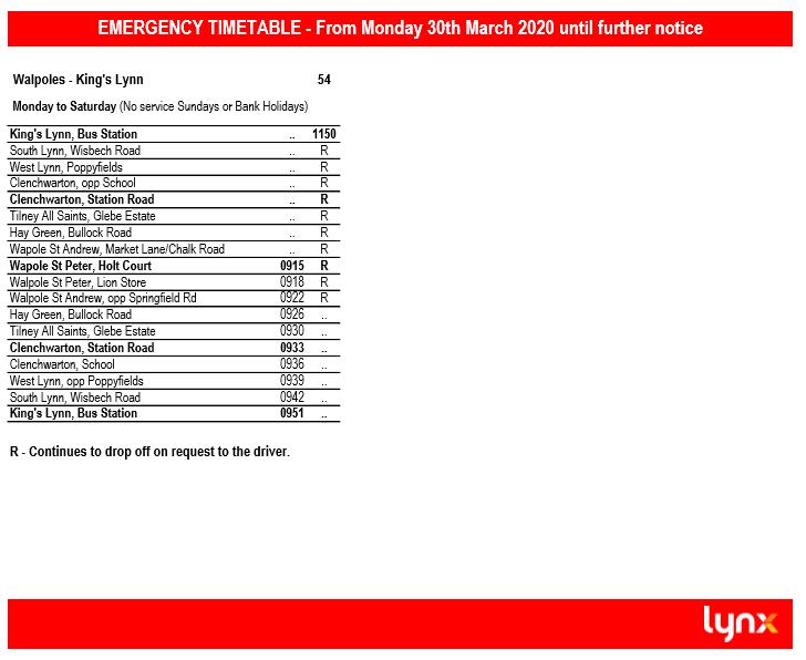 Lynx Bus Timetable