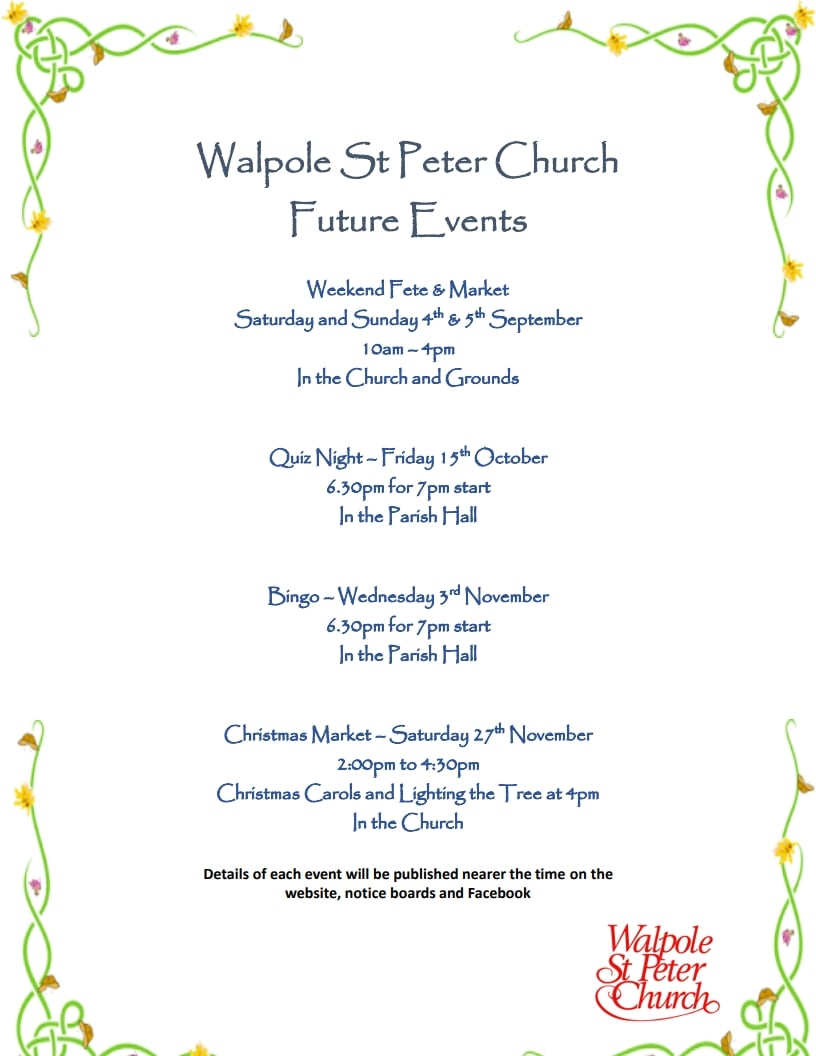 WSP - Church Events for 2021